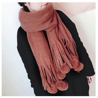 FROME - Pompom Knit Scarf