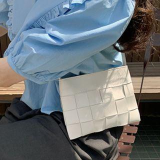 FROMBEGINNING - Woven Pleather Shoulder Bag