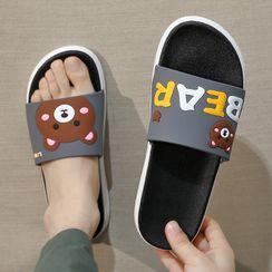 Ishanti - 小熊厚底拖鞋