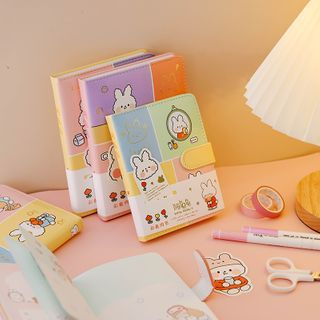 Ms Zaa - Cartoon Rabbit Print Notebook