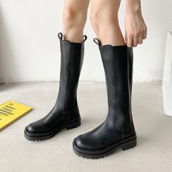 Queen Zoo - Paneled Tall Boots
