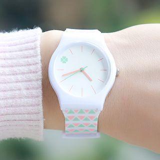 Epoca - Clover Print Strap Watch