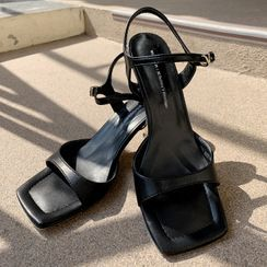 DEEPNY - Vivid Square-Toe Ankle-Strap Sandals