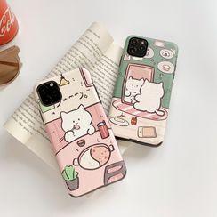 Vachie - Cat Print Phone Case - iPhone / Huawei