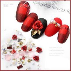 WGOMM - Rhinestone Rose Nail Art Decoration