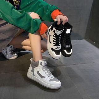 Shanhoo - High Top Chunky Platform Sneakers