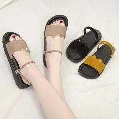 hunigala - 厚底貓耳涼鞋