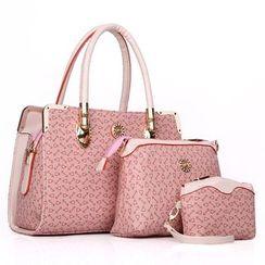 Mayanne - Set: Printed Handbag + Shoulder Bag + Pouch
