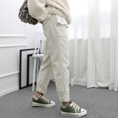 DANI LOVE - Band-Waist Pocket-Detail Jogger Pants