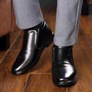 Kayne H - Faux Leather Zipper Dress Boots