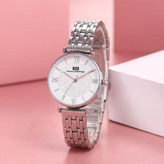 Cronos - Roman Numeral Alloy Bracelet Watch