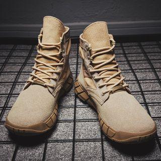 MARTUCCI - Velvet Platform Lace-Up Ankle Boots