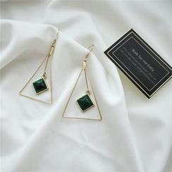 Kokyu - Turquoise Triangle Drop Earring