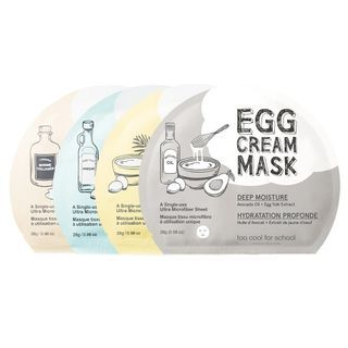 too cool for school - Egg Cream Mask 1pc (3 Types)
