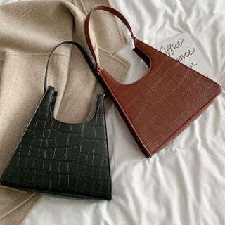 Road to Love - Croc Grain Handbag