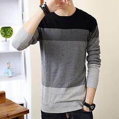 Besto - Color-Block Knit Top