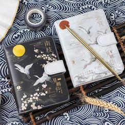 Setaria - Crane Print A6 Notebook