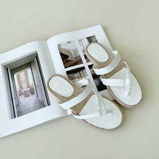 NANING9(ナンニング) - Thong Espadrille Slide Sandals