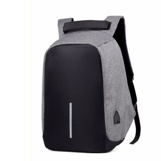 Golden Kelly - Nylon Laptop Backpack with USB Port