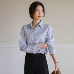 JUSTONE(ジャストワン) - Wrinkle-Free Textured Shirt