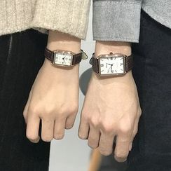Honey Bee - Couple Matching Square Strap Watch