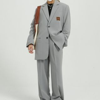 FAERIS - Single-Breasted Blazer / Straight Leg Dress Pants
