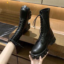 Nikao - Lace Up Platform Boots