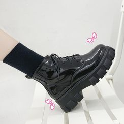 Vindler - Platform Lace Up Short Boots