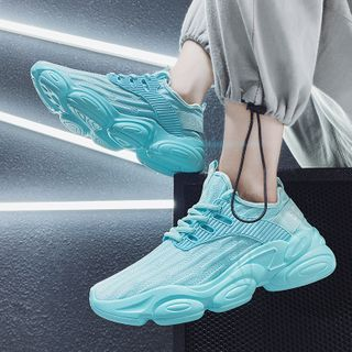 TATALON - Printed Panel Lace-Up Athletic Sneakers