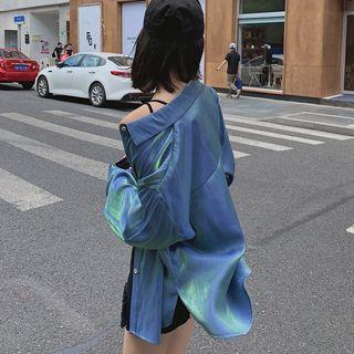 Ashlee - Long-Sleeve Iridescent Shirt