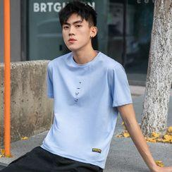 KANYO - 短袖老鹰刺绣T裇