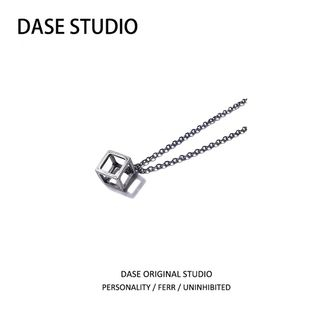 DASE - Wirework Cube Pendant Necklace