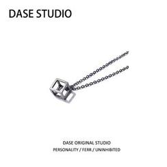 DASE - Wirework Cube Pendant Necklace