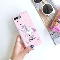 Pixel Dream - Unicorn Print Mobile Case - iPhone XS / XS Max/ XR / X / 8 / 8 Plus / 7 / 7 Plus / 6S / 6S Plus