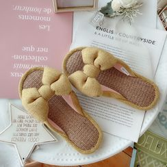 Ifish House(アイフィッシュハウス) - Couple Matching Bow Home Slippers