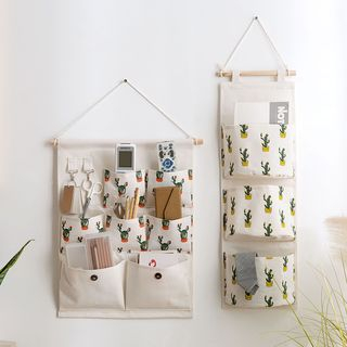 MyHome - Printed Linen Cotton Hanging Pockets