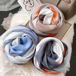 Amandier - Patterned Linen Cotton Scarf