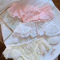 Ifish House - Ruffled Lace Trim Panty