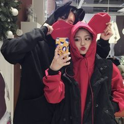 Whoosh(ウーシュ) - Couple Matching Ear Accent Hoodie