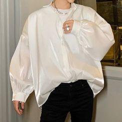 ANCHO - Puff-Sleeve Satin Shirt