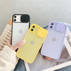 Make Workshop - Transparent Phone Case with Lens Cover - iPhone 11 Pro Max / 11 Pro / 11 / XS Max / XS / XR / X / 8 / 8 Plus / 7 / 7 Plus / 6s / 6s Plus