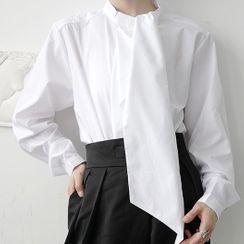 Bjorn - Tie Neck Shirt