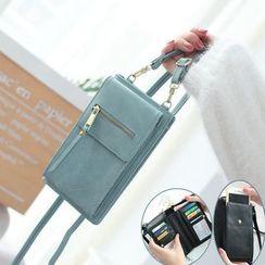 NICOLEBONNIE - Faux Leather Mobile Phone Crossbody Bag