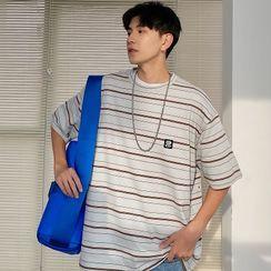 BANGBOY - Short-Sleeve Striped T-Shirt