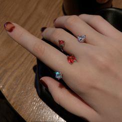 Poppin - 水钻开口戒指