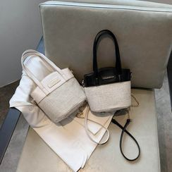 NewTown - Pattern Panel Bucket Bag