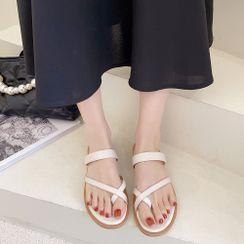 Queen Zoo(クイーンズー) - Flat Slide Sandals