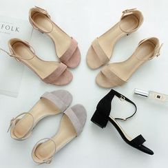 ONESTEP - Ankle Strap Chunky-Heel Sandals