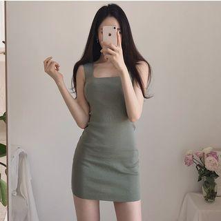 Maine - Square-Neck Mini Knit Tank Dress