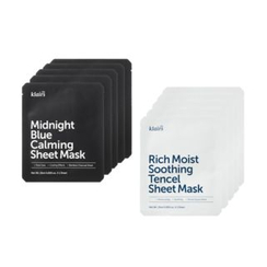 Dear, Klairs - Midnight Blue Calming / Rich Moist Soothing Tencel Sheet Mask (5er Pack)